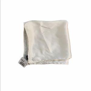 100% Silk White Pocket Square